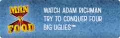 Watch Adam Richman Try To Conquer <em>burger</em> Four Big Uglies